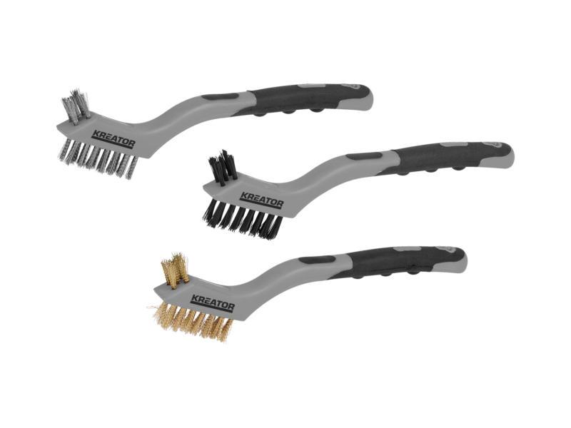 Kreator KRT561101 staalborstelset 3 stuks