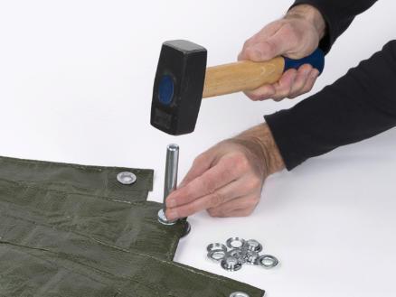 Kreator KRT616109 pince à oeillets de bâche 12,5mm + 30 pièces