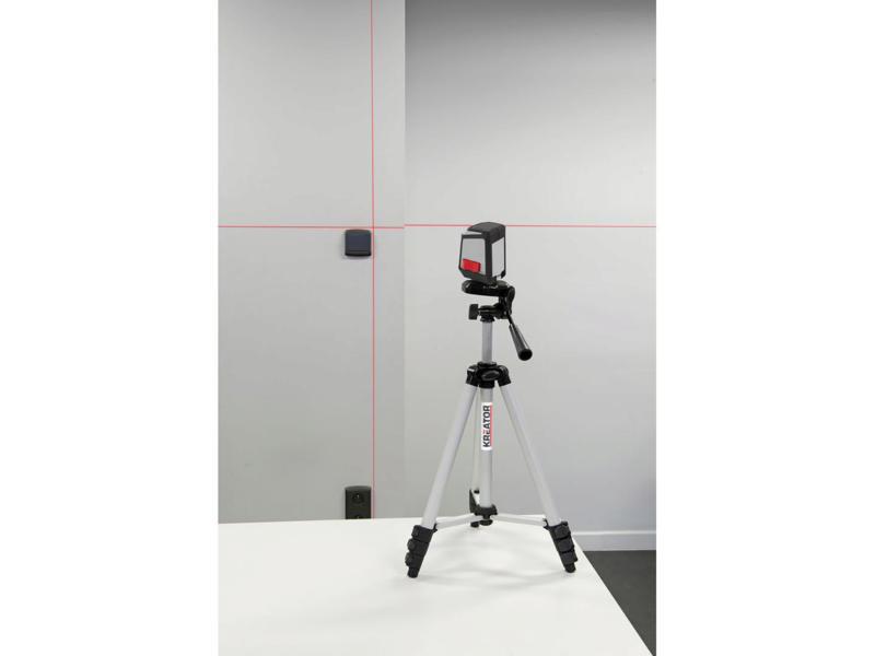 Kreator KRT706300T niveau laser en croix + trépied réglable