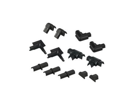 D-Line Kabelgoot adapter set 16x8 mm zwart