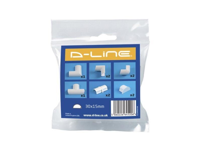 D-Line Kabelgoot adapter set 30x15 mm wit