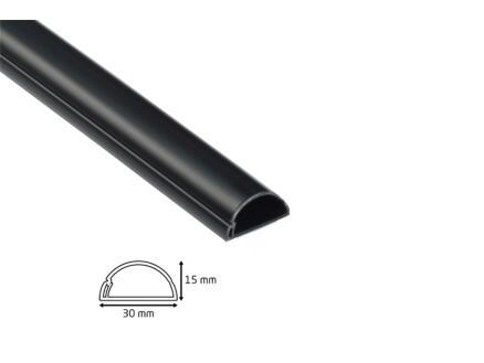 D-Line Kabelgoot halve cirkel 30x15 mm 2m zwart