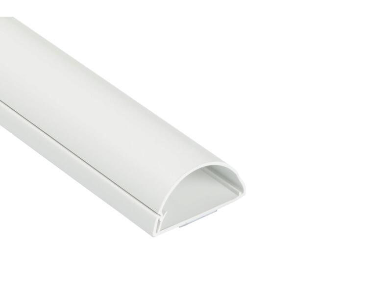 D-Line Kabelgoot halve cirkel 50x25 mm 1,5m wit