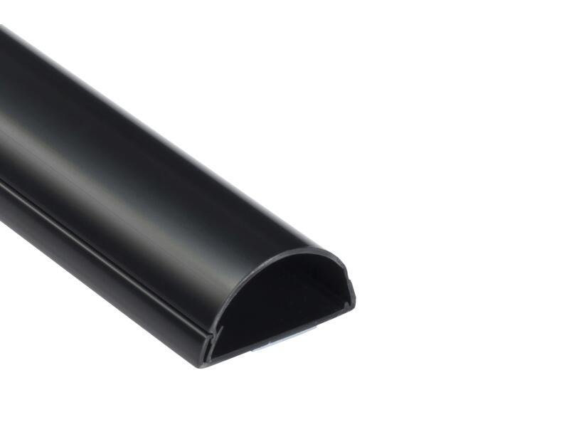D-Line Kabelgoot halve cirkel 50x25 mm 1,5m zwart
