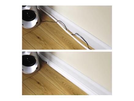 D-Line Kabelgoot hoek 90° 22x22 mm 2m wit