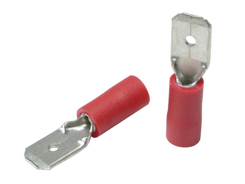 Kabelschoen man 0,5-1,6 mm 10 stuks rood