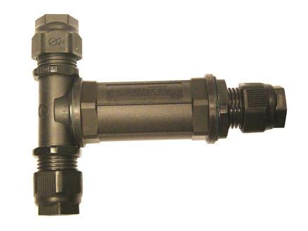 Profile Kabelverbindingsmof T-stuk 3+3P IP68