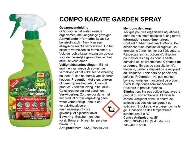 Compo Karate Garden Spray insecticide 750ml