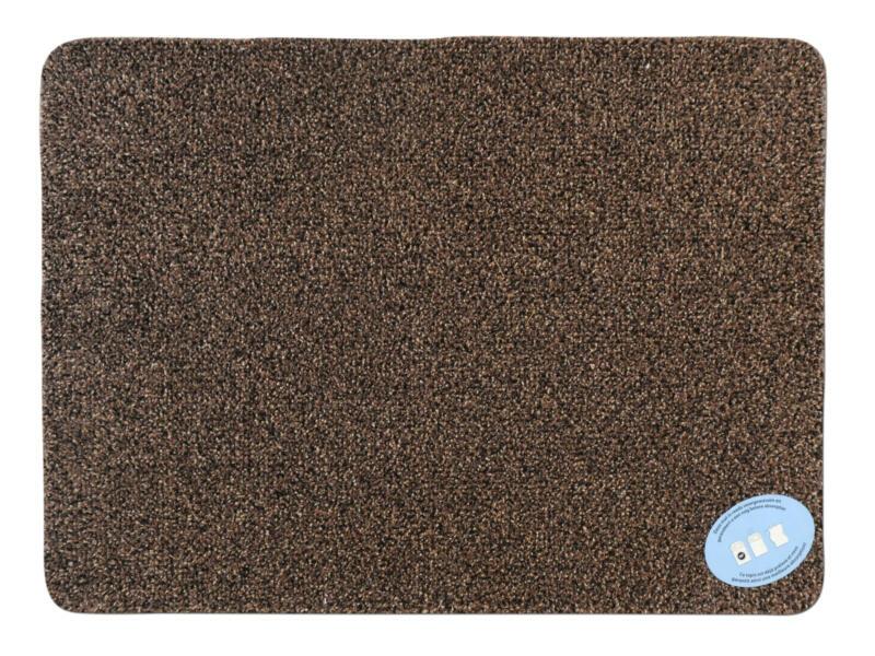 Katoenmat 65x100 cm bruin