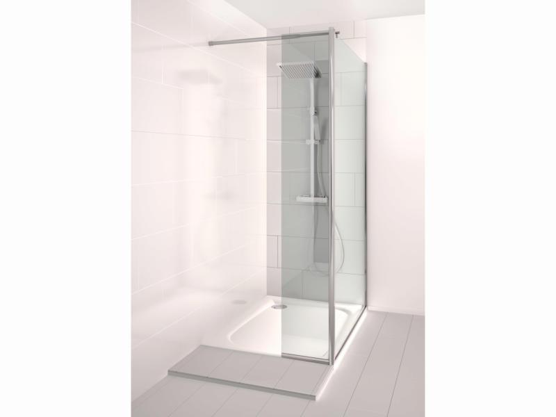 Allibert Kobana paroi de douche 90x195 cm fixe avec paroi latérale 30cm