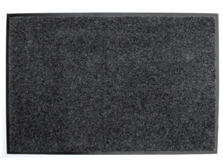Kristal voetmat 60x90 cm grijs