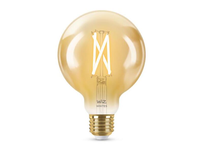 Wiz LED bollamp filament amberglas E27 8W dimbaar