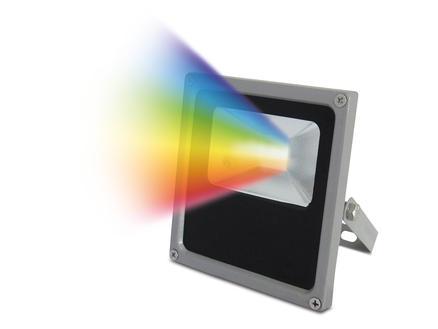 Prolight LED straler RGB 10W IP65 grijs