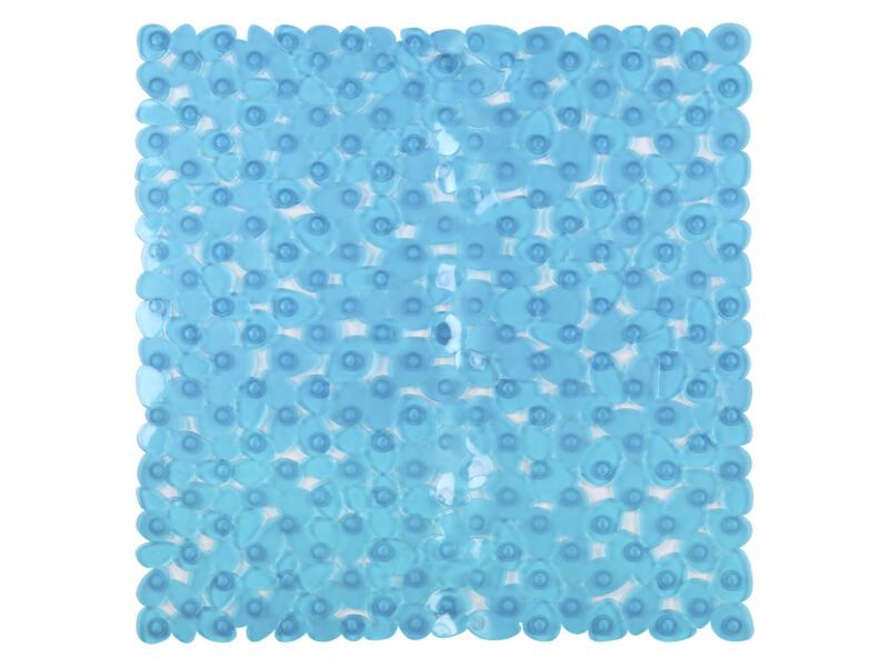 Differnz Lapis antislip douchemat 54x54 cm blauw