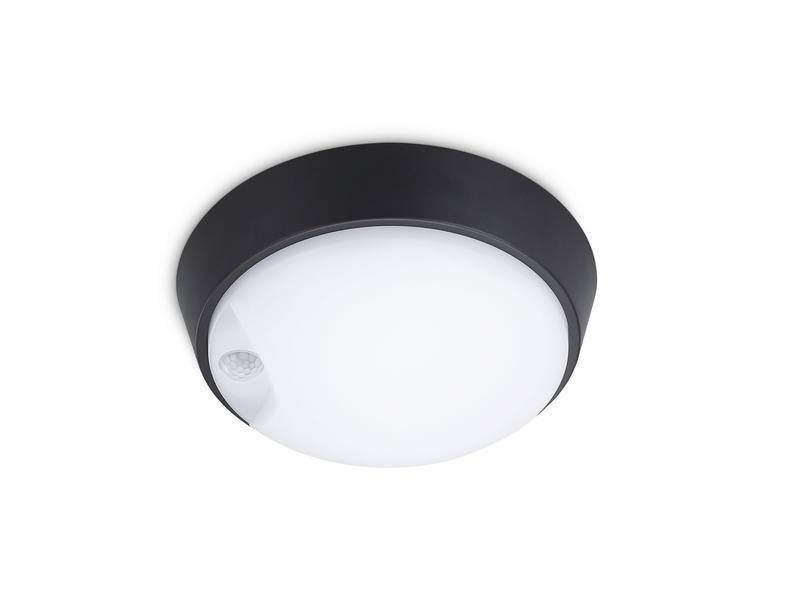 Prolight Lilla LED wandlamp 10W met PIR zwart