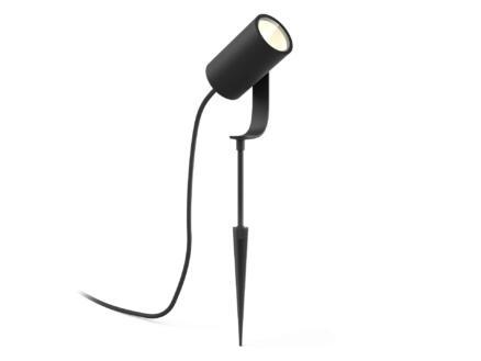 Hue Lily spot LED extérieur à poser 8W noir