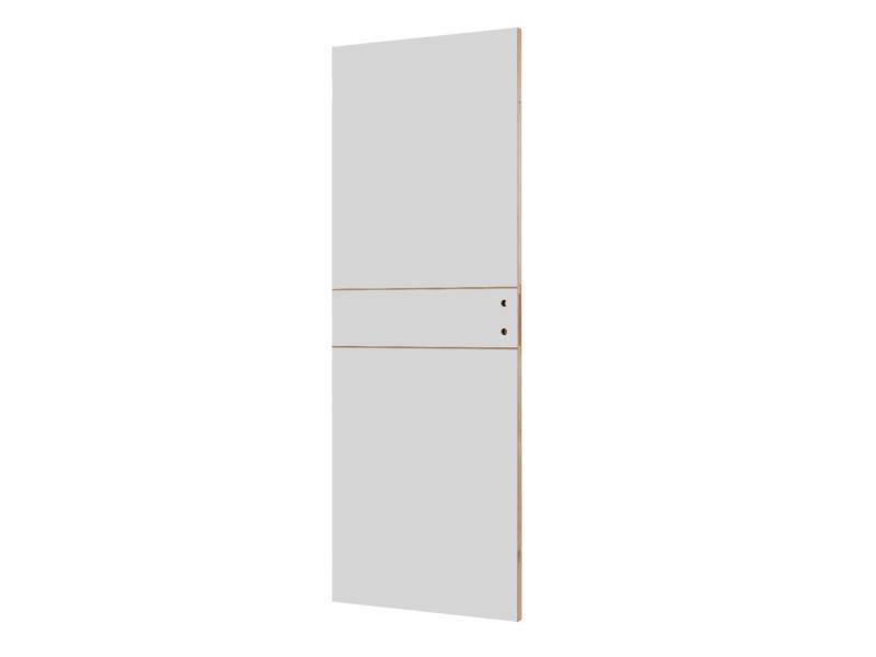 Solid Linee binnendeur P001 201x63 2 lijnen wit