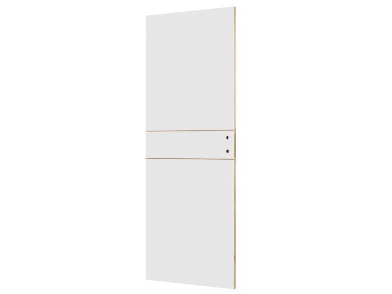 Solid Linee binnendeur P001 201x73 2 lijnen wit