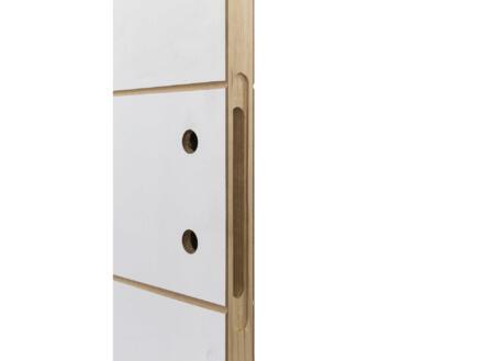 Solid Linee binnendeur P001 201x88 2 lijnen wit
