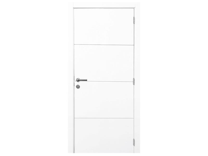 Solid Linee binnendeur P002 201x83 3 lijnen wit
