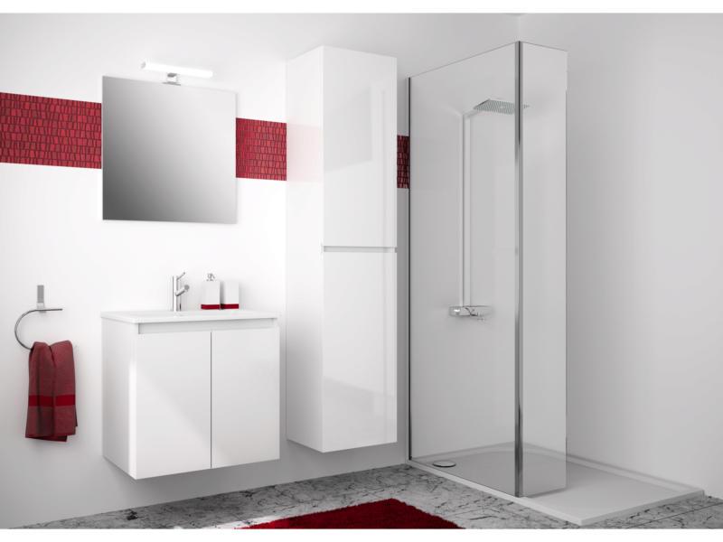 Allibert Livo meuble salle de bains 60cm 2 portes blanc
