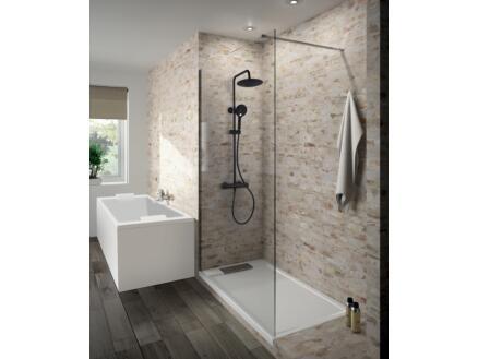 Allibert Loft-Game colonne de douche avec robinet noir