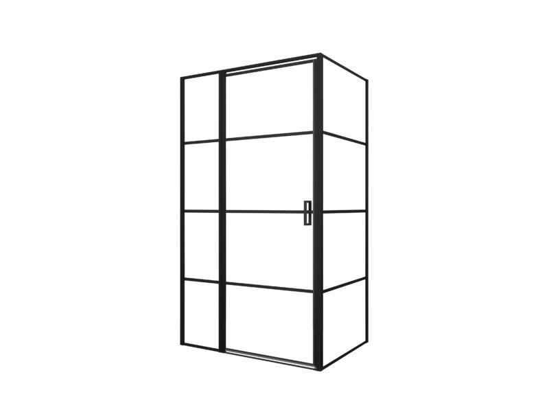 Allibert Loft-Game paroi de douche 120x90x200 cm transparent/noir