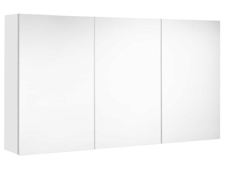 Allibert Look armoire de toilette 120cm 3 portes blanc brillant