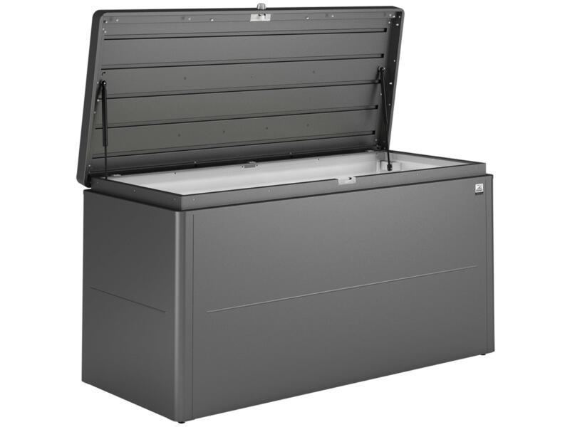 Biohort LoungeBox 160 kussenbox 160x70x83,5 cm donkergrijs metallic