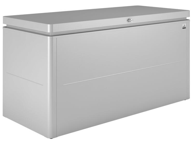 Biohort LoungeBox 160 kussenbox 160x70x83,5 cm zilver metallic