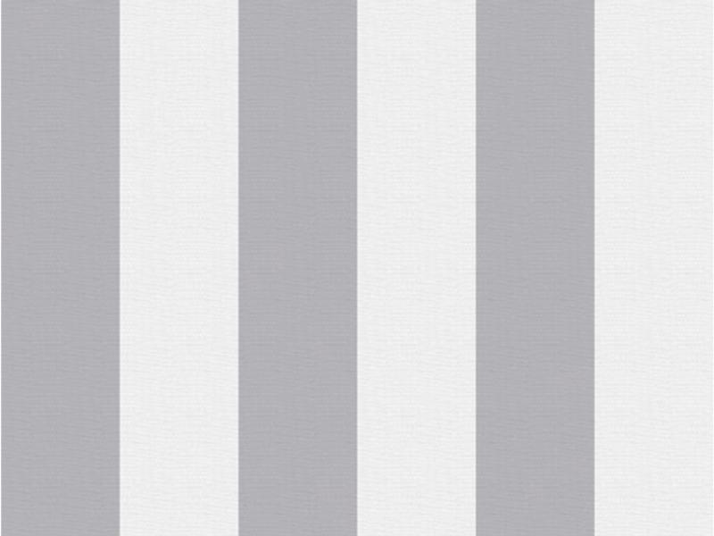 Lynn Stripe papier peint intissé 52cm 10,05m gris foncé/blanc