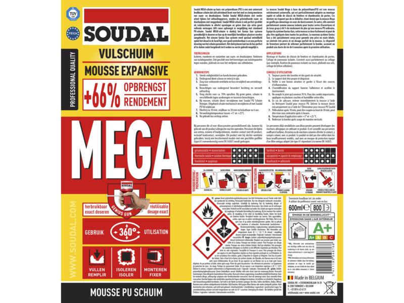 Soudal Mega PU-schuim 600ml