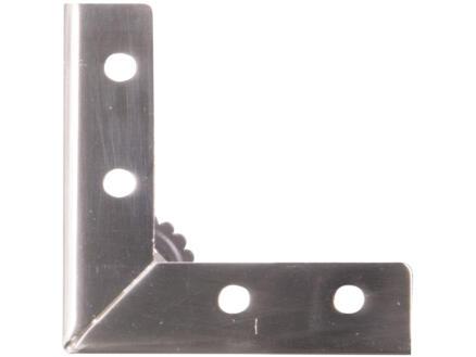 Meubelpoot Y 3-poot 75x75 mm 10cm metaal RVS-look