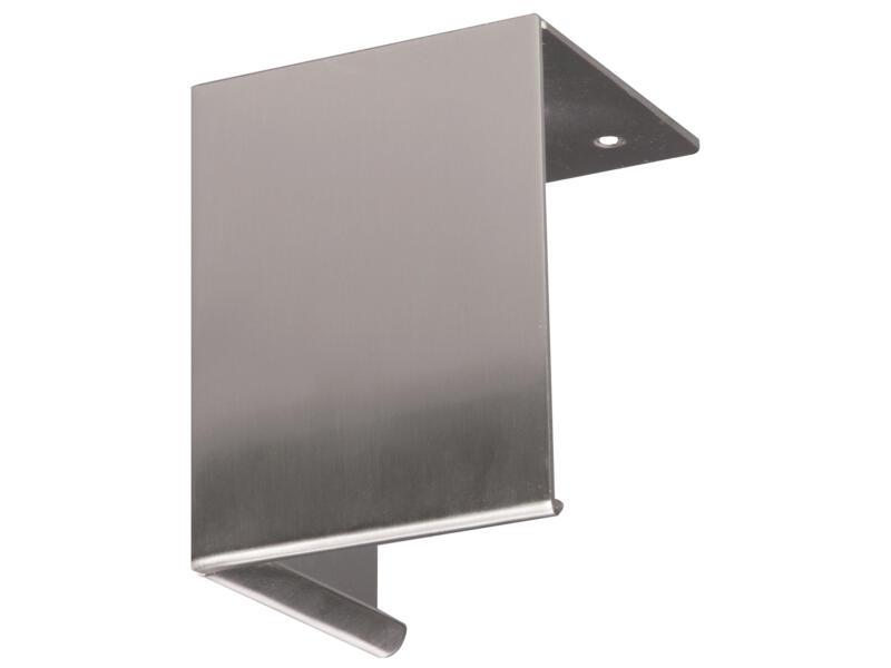 Meubelpoot blok 80x80 mm 10cm metaal RVS-look
