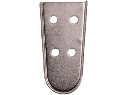 Meubelpoot ovaal 30x75 mm 10cm metaal RVS-look