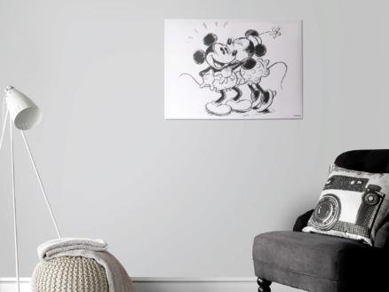 Disney Mickey Mouse canvasdoek 70x50 cm hugging