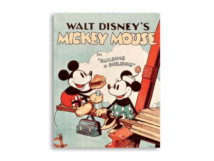 Disney Mickey Mouse toile imprimée 40x50 cm building a building