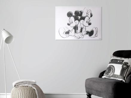 Disney Mickey Mouse toile imprimée 70x50 cm sitting