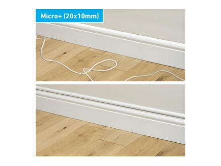Micro+ Trunking kabelgoot halve cirkel 20x10 mm 2m wit