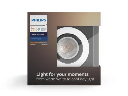 Philips Hue Milliskin LED inbouwspot GU10 5,5W aluminium