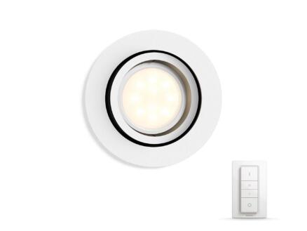 Hue Milliskin LED inbouwspot GU10 5,5W wit + dimmer