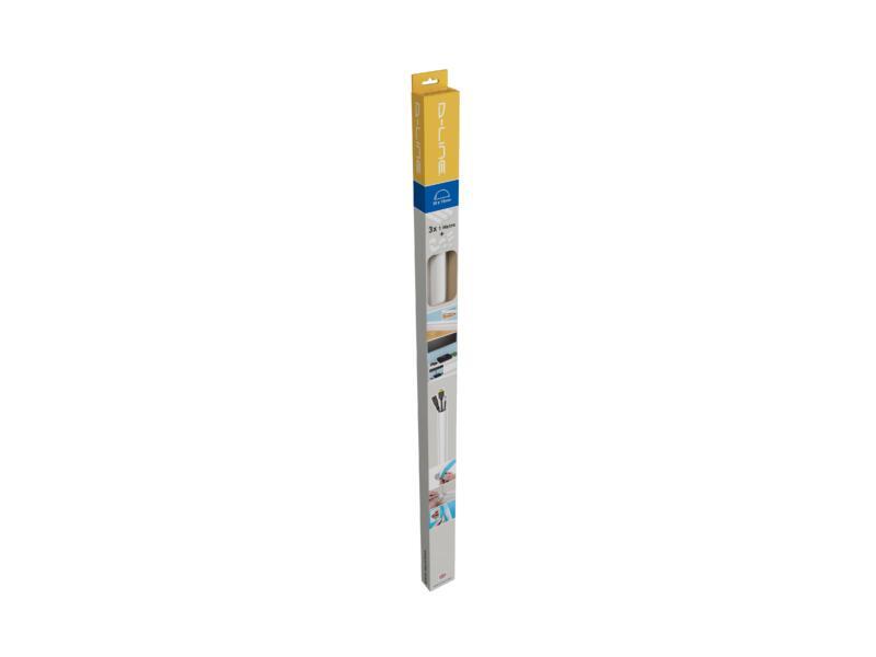 Mini Trunking kabelgoot halve cirkel 30x15 mm 1m + accessoires