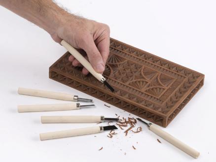 Kreator Mini houtbeitelset 12-delig