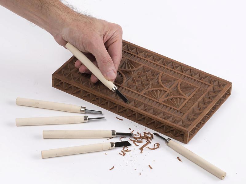 Kreator Mini houtbeitelset 6-delig