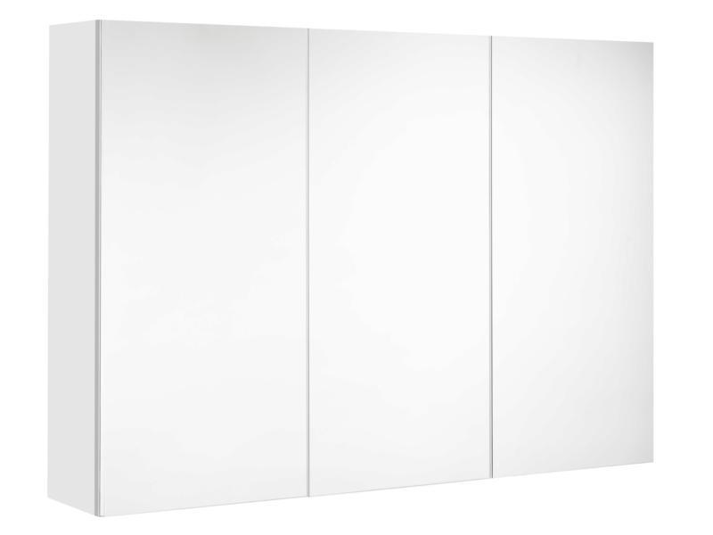 Allibert Mira armoire de toilette 100cm 3 portes miroir blanc mat