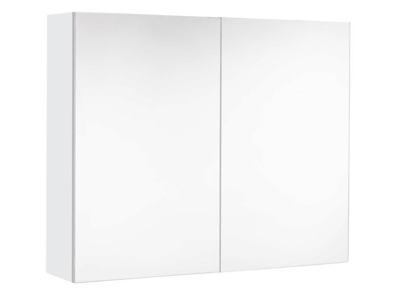 Allibert Mira armoire de toilette 80cm 2 portes miroir blanc mat