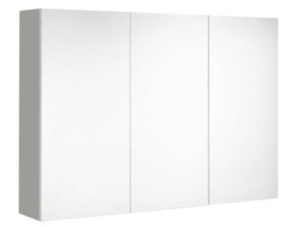 Allibert Mira spiegelkast 100cm 3 deuren mat grijs