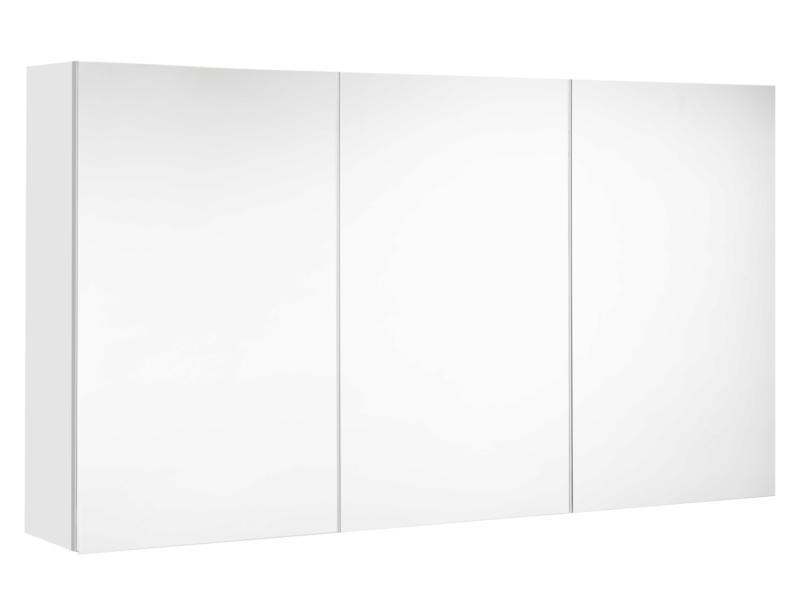 Allibert Mira spiegelkast 120cm 3 deuren mat wit