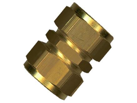 Saninstal Mof knelkoppeling 15mm messing 10 stuks