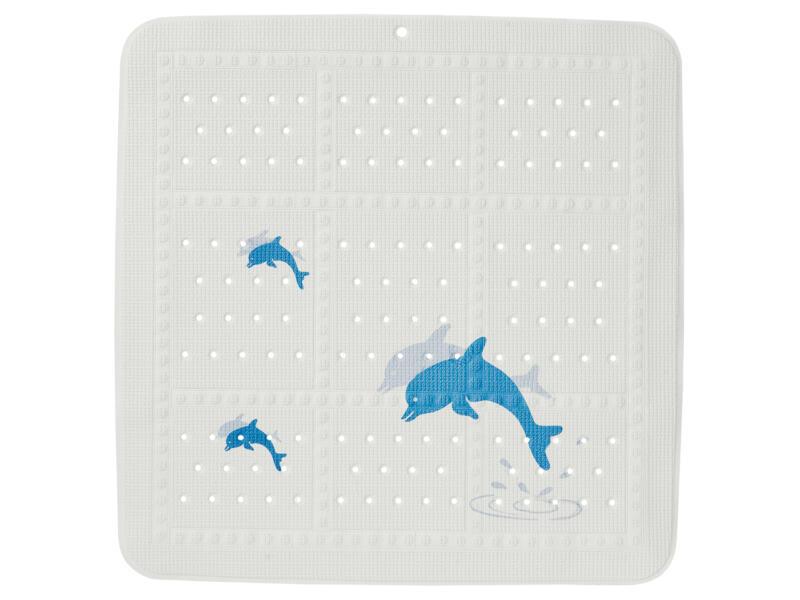 Sealskin Montreal antislip douchemat 55x55 cm wit/pastelblauw